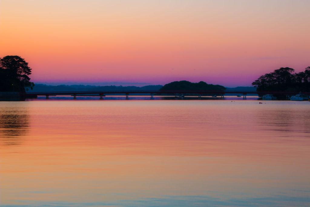 松島の朝焼け